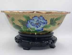 Superb Large Chinese Cloisonné Enamel Bowl.  20th.C