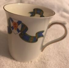 Queen's Bone China Coffee Cup Mug Nova Scotia Tartan Rosina China Co England