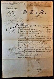 KING LOUIS XVI SIGNED PENSION PATENT FOR SOLDIER JEAN RENARD 1789