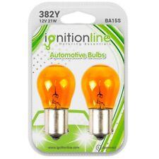 2 x 382 12V P21W Amber Indicator Light Car Bayonet Bulbs Opposite Pins BA15S