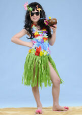 Kids Size Green Hawaiian Grass Skirt