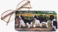 SPRINGER SPANIEL DOGS GLASSES CASE POUCH  SANDRA COEN ARTIST PAINTING PRINT