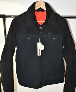 DIESEL J-ZAHIR Black Padded Designer Jacket Button & Zip Coat Size Large L BNWT
