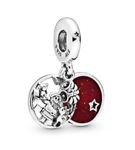 Genuine Pandora Sterling Silver Santa Love Peace Joy 798468C01  S925 ALE Charm