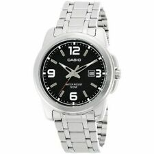 Casio Mtp1314d-1a Mens Stainless Steel Modern Dress Watch 50m - Black Dial