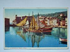 SANTA MARGHERITA LIGURE porto barca vela Genova vecchia cartolina 401-1 bis