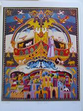 Israeli Art Judaica  Noah's Ark Lithograph Michael Elkayam Signed Numbered