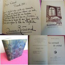 LE CERCEUIL DE CRISTAL Maurice Rostand Poème autographe signé Dauville 1920