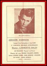 WILLIAM KAPELL - Original Program from ASOCIACION WAGNERIANA - Argentina 1946