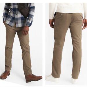 Banana Republic Mens Pants Size 34 x 34 Tan Cotton Twill Aiden Chino Welt Pocket