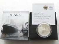 2012 Royal Mint Titanic 100th Anniv £5 Five Pound Silver Proof Coin Box Coa