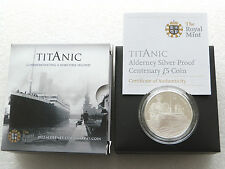 2012 ROYAL MINT Titanic Centesimo Anniv £ 5 Cinque sterline Argento PROOF COIN BOX COA