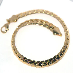 Flat Snake Chain Bracelet for Womens Mens Hip hop Fashion Jewelry 21/0.7cm