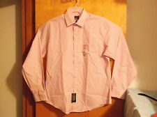 NEW ARROW NO IRON  MEN'S PETAL COLORED DRESS FITTED SHIRT.SZ .17.5 -36/37