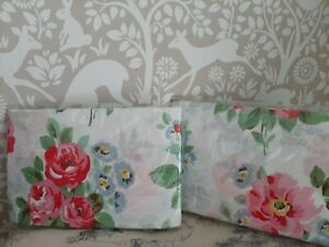 Cath Kidston rose print pillowcases x 2 standard size white and pink