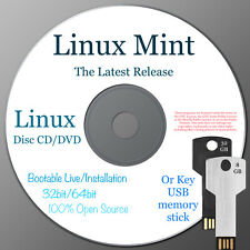 More details for linux mint 64bit or 32bit latest release dvd disc or usb memory stick