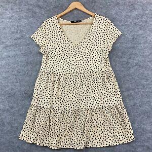 Sportsgirl Womens Dress Size M Medium Leopard Print Short Sleeve Cotton 322.25