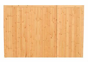 QUALITY WOODEN OFFSET GARAGE DOORS (TIMBER) 'CLOFORD'
