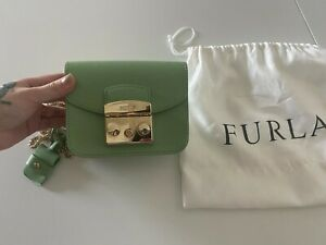 Furla metropolis mint green mini bag