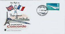 FDC-SPERSONIC CONCORDE-THE ANGLO-FRENCH-FIRST FLIGHT-FILTON BRISTOL-9 AVRIL 1969