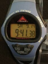 timex triathlon watch Indiglo,swim.bike.run,eight Lap Memory,Chronograph Alarm