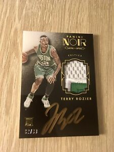 2015-16 PANINI NOIR TERRY ROZIER ROOKIE PATCH AUTO COLOR RPA #/99 RC GOLD INK SP