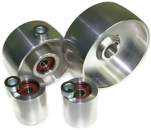 """Belt Grinder wheel set knife grinder 5"""" Drive-24 mm shaft, 4"""" tracking, 2"""" Idler"""