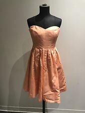 NEW J.CREW $200 FAILLE MARLIE STRAPLESS BRIDESMAID DRESS 8 SALMON DUST A1447