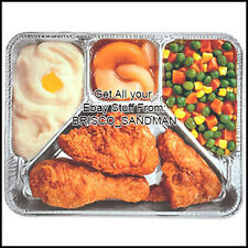 "Fridge Fun Refrigerator Magnet ""RETRO TV DINNER V1: FRIED CHICKEN"" Die-Cut"