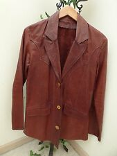 Vtg East West Musical Instrument 70's Men'S Womens Unisex Leather Jacket S Small