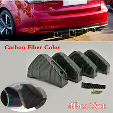 Universal Carbon Fiber PVC Shark Fin Style Car Low Bumper Diffuser Lip Splitter