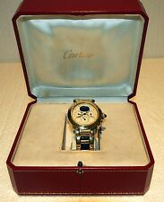 CARTIER PASHA MOONPHASE ALL 18 KT GOLD,146.8 GR DAY,DATE 39.5MM-3EX LINK 2 CROWN