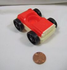Vintage Fisher Price Little People RED CAR w/ White Base for GARAGE TOWN Cute!