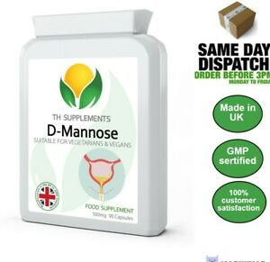 D Mannose 500mg  90 or 180 Capsules food supplement