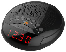QFX Dual Alarm Clock Radio Red LED Display AM/FM Radio Tuner