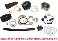 Servicekit Mercruiser Alpha One Generation 1 Bälge Impeller Gimballager usw.