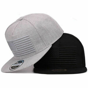Boys Mens USA Flag Baseball Cap Kids 3D Embroidery Hip Hop Hat Army Military Cap