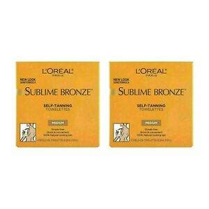 L'Oreal Sublime Bronze Self-Tanning Single-use Towelettes 6ct each (Pack of 2)