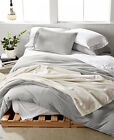 Calvin Klein Modern Cotton Jersey Body Solid FULL/QUEEN Duvet Cover GREY D875