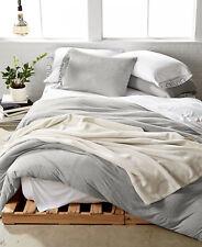 Calvin Klein Modern Cotton Jersey Body Solid FULL/QUEEN Duvet Cover GREY D875