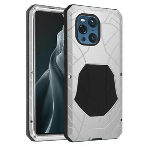 iMATCH Shockproof Outdoor Metal Hybrid Silicone Case for OPPO Find X3 Pro