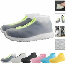 Reusable Silicone Waterproof Shoe Covers with Zipper No-Slip Silicone Rubber