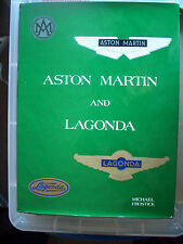 ASTON MARTIN AND LAGONDA BY MICHAEL FROSTICK,FIRST EDITION 1977