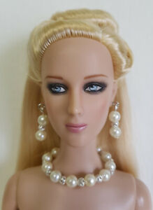 "PEARLS Handmade Jewelry Set for 16"" Fashion Dolls Tyler, Cami, Alex, Gene d4e"