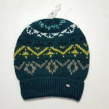 6b326caee06 NEW AEO American Eagle Green Chunky Knit Beanie Knitted Winter Hat Women s  AE
