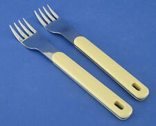 Oneida Colormate Yellow 2 Forks Stainless Steel with Plastic Handle