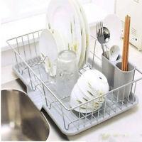 Dish Drainer Rack Kitchen Sink Basket Cutlery Draining Rack Board Holder Tray