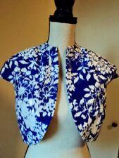 BADGLEY MISCHKA Collection Cropped Shrug Bolero Clear Sequined Silk Jacket Sz 6