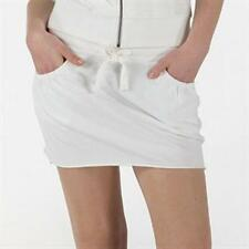 BNWT womans FLY53 White Cotton Mini Skirt 12 logo at the back