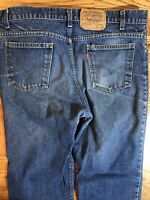 Vintage 80s Levi's 517 Bootcut Denim Jeans Orange Tab Size 35 x 32 Made in USA